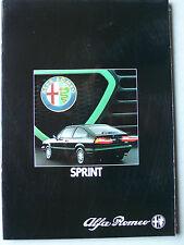 Prospekt Alfa Romeo Sprint 1.3, 1.5 Quadrifoglio verde, 4.1983, 38 S. Hochglanz