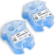 Braun Cartridge 2pk Refill Clean Renew Shaver Electric Men's Razor Fluid Cleaner