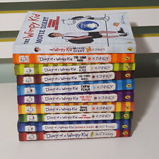 SET OF 9X DIARY OF WIMPY KID BOOKS + MOVIE BOOK! BOOKS BY JEFF KINNEY!
