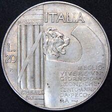 1928 | ITALIA 20 LIRE | Argento | monete | KM monete