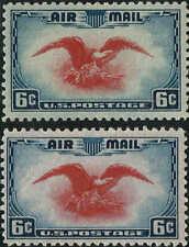 "#C23c ""rare ultramarine & carmine color error"" 1938 6c AIRMAIL ISSUE MINT-OG/NH"