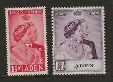 ADEN  SG 30/31  1949 SILVER WEDDING SET   UNMOUNTED MINT