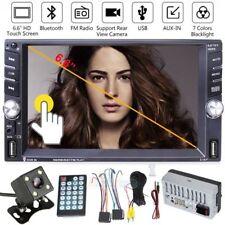 "6.6"" Double 2DIN Quad Core Bluetooth Car Stereo FM Radio Stereo MP5 Player +Cam"