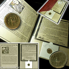 MYTHICAL HAMSA BIRD - Antique Cambodian 2 PE Coin 1650-1850 AD 17-19th Century