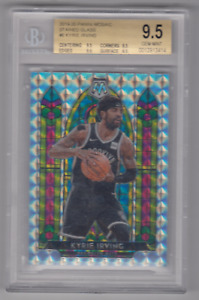 2019-20 PANINI MOSAIC KYRIE IRVING STAINED GLASS INSERT BGS 9.5 CARD #6