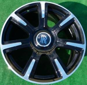 Factory Rolls-Royce GHOST WRAITH WHEEL Bespoke Black 21 inch 6859421 Genuine OEM