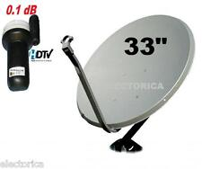 "33 "" HIGH QUALITY KU BAND SATELLITE DISH ANTENNA & FTA TV LNB PACKAGE 30 24"