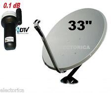 "33 "" HIGH QUALITY KU BAND SATELLITE DISH ANTENNA & FTA TV LNB PACKAGE 30 24"