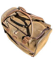 Beautiful Unisex Rare Retro Brown Faux Leather Kangol travel Bag Vintage