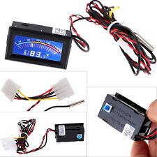 Digital Thermometer Temperature LCD Meter Gauge PC Car Mod C/F Molex panel mount