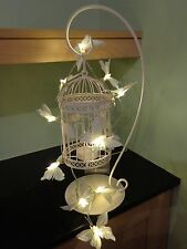 10 White & Silver Butterfly Fairy Lights Bedroom/Wedding/Hen Party/Birthday/