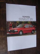 Toyota Starlet 12V Prospektblatt / Sales sheet, S, 11.1987