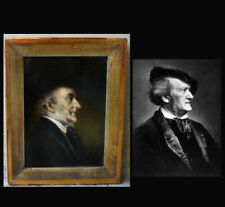 Lajos Kolozsváry (1871) Superb Portrait of Richard Wagner. Very rare oil.