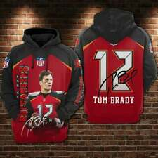 Tampa Bay Buccaneers Number 12 Tom Brady All Over Print Premium Pull Over Hoodie