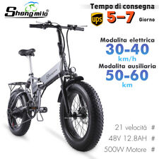 """20"""" Fat Bike Elettrica 500w 40km/h Bicicletta Elettrica Pieghevole Bici E-bike"""