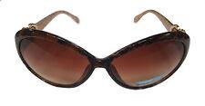 Femmes foncé tortue or & coeur charme surdimensionné celeb hepburn lunettes de soleil SG26