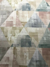 Harlequin Curtain Fabric 'Geodesic' 2.7m Blush / Taupe / Seaglass - Linen Mix