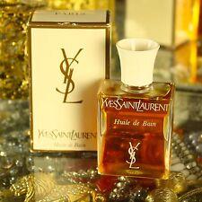 "Vintage Yves Saint Laurent ""Ysl"" Huile de Bain Bath Oil 1 oz Perfume New France"