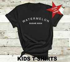 Watermelon Sugar High - Kids t shirt Harry Styles Music Teenager top Black White