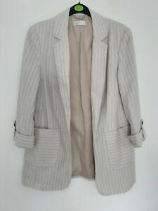Papaya Matalan Matching Striped Trousers Size 12 and Blazer Jacket Size 12