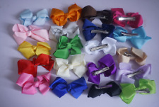 20 pcs Tiny Hair Bows Clips Fully Lined for Baby Girls Fine Hair Infants