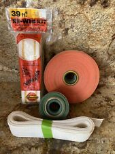 """Re-Web Kit Set of Arden Paradise& Other Chair Strapping Variety Lot 2-3/16"""" Wide"""