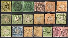 Germany State WURTTEMBERG USED STAMP LOT CV €1100 - ALTDEUTSCHLAND BRIEFMARKE