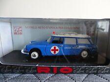 1:43 Rio #SLO76 Citroen Id 19 Break Ambulance French Red Cross 1958 Blue New /