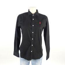 RALPH LAUREN Bluse Hemd Blouse Damen Schwarz Slim Fit Gr. L 40