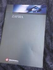 Vauxhall Zafira 1999 Model Year Car Brochure Sales Literature