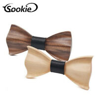 Handmade Men's Fashion Wedding Wooden Bow Tie Retro Party Wood Tuxed Necktie New