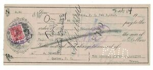 1919-02-03, #106 ADV. LION/MOLSON BANK CHECK PAID TO A GRENIER BY OCEANIC OYSTER