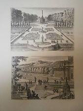 Planche gravure Jean le Pautre Deux jardins
