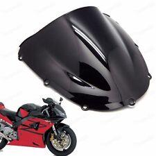 Black Double Bubble Windscreen Windshield ABS for Honda CBR900 954RR 2002-2003