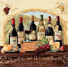 Wine,Cuisine,Shabby Chic Picture Plaque, Rustic picture,Italy Style,Cottage