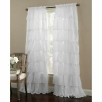 1    Gypsy 84-Inch Rod Pocket Window Curtain Panel in White