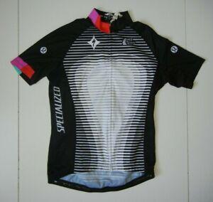LULULEMON x SPECIALIZED Black/White CYCLING JERSEY Running Bike Shirt Women's 6