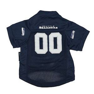 NFL Seattle Seahawks Officially Licensed Pet Gear Mesh Football Jersey