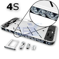 Crystal/Diamond Silver Midframe Mid Frame Bezel Chassis For iPhone 4S/4GS Sty 6S