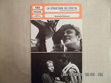 CARTE FICHE CINEMA 1969 LA STRUCTURE DU CRISTAL Jan Myslowicz