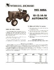 Wheel Horse 10-12-14-16 Automatic Parts Manual
