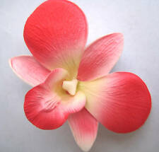 Hawaii Bridal Wedding Party Orchid Foam Flower Hair Clip ~ CORAL PINK (QTY 2)