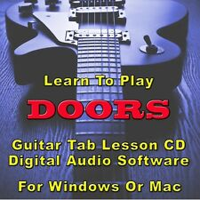DOORS Guitar Tab Lesson CD Software - 40 Songs