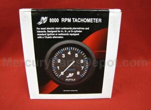 Mercury Marine Analog Gauge - Black - 8K Tachometer 79- 895283A06