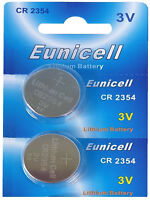 2 x CR2354 3V Lithium Batterie ohne Vertiefungsrille  Eunicell