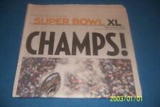 2006 Tribune Review PITTSBURGH STEELERS Super Bowl XL CHAMPIONS Complete News