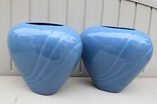 "Pair Mid Century Modern Haeger # 4342 Abstract Biomorphic Design 10""H Vases"