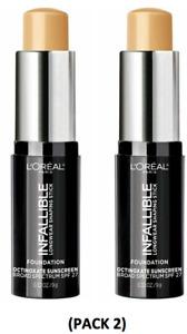 LOreal Paris Infallible Longwear Shaping Stick Foundation 405 Sand 0.32 Oz PK 2