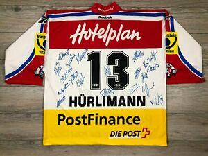 SC Rapperswil-Jona Lakers Hürlimann Signed Ice Hockey TFS Jersey Trikot Shirt