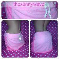 NEW! VICTORIA SECRET'S Cotton Stretch Terry Pink Mini Skirt Swim Cover Up S/XS